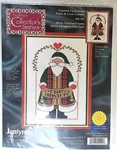 Janlynn Cross Stitch Merry Christmas Santa Collector's Series 41-101 9x13 2000