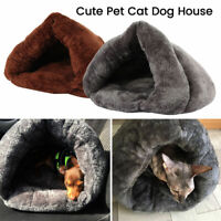Pet Dog Cat Bed House Warm Soft Mat Bedding Cave Basket Kennel Washable Nest US