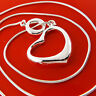Necklace Chain Real 925 Sterling Silver S/F Solid Ladies Heart Pendant Design