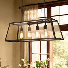 Kitchen Pendant Light Large Chandelier Lighting Office Ceiling Light Black Lamp