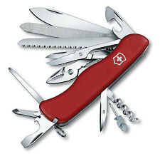 "Victorinox Swiss Army Knife Lockblade Workchamp 21 Functs Red Handle 4 ⅜"" Closed"