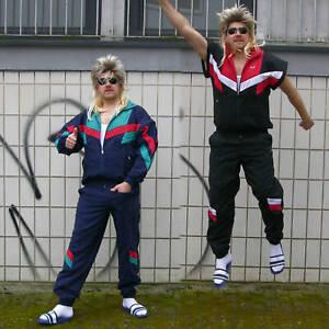 80er / 90er Jahre Trainingsanzug Jogginganzug Fasching Kostüm ABNEHMBARE Ärmel ✔