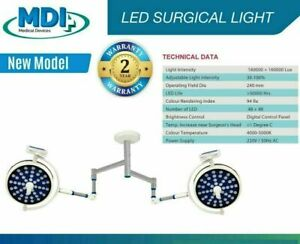 LED Operation Theater surgical light Led's 48+48 Dual color OT Light Double Dome