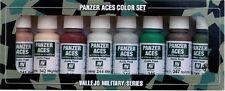 Vallejo PANZER ACES 70.129 Set Nº 6 macchiate, mimetica. 8x17ml vernici acriliche