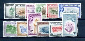 British Honduras 1953 defin set fine MLH