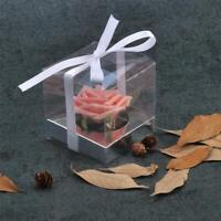 Clear Transparent PVC Cube Chocolate Sweets Cup Cake Wedding Candy Gift Box