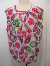 MSGM Multicolored Sleevesless 100% Silk Blouse With Flower Design Size EU 46 NWT