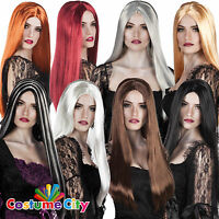 """Womens Ladies Classic 24"""" Witch Wig Halloween Fancy Dress Costume Accessory"""