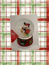 Disney Mickey & Minnie Mouse Musical Christmas Holiday Snowglobe Skating Gift