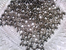 VTG 50 SILVER COATED ACRYLIC FACETED SPACER BEADS looks like metal #091119m