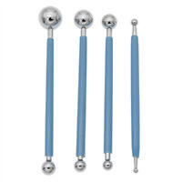 Set of 4 Quilling Paper Ball Impression Pen Stainless Steel Tools Paper Crafts