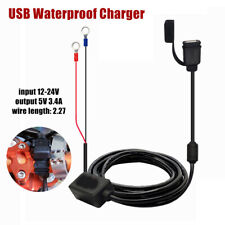Single USB Waterproof Charger Motorcycle Mobile Phone Charging Cable Accessories