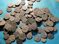 """3 """"as dug"""" Bronze Coins all with Detail showing for Cleaning and Identification"""
