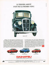 PUBLICITE ADVERTISING 025  1992  DAIHATSU   APPLAUSE FEROZA CHARADE