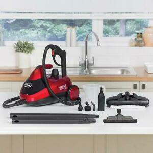 Red Multi-Purpose Electric Steam Corded Cleaner Home Portable Cleaning Machine