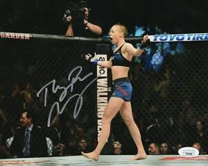Rose Namajunas Autograph 8x10 Photo UFC Fighter Signed JSA COA Z4