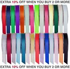 Quality Reels Double Sided Satin Ribbon 20/50 Metre Width 6,10,15,25&38mm Crafts