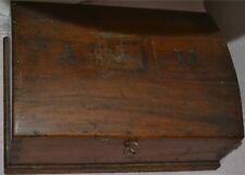 Antico Bauletto da scrivania da viaggio fine '800 per paramenti sacri e bibbia