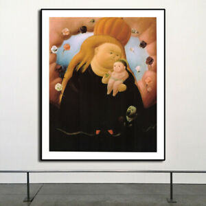 """HD Repro For Fernando Botero """"notre-dame-de-new-york"""" Art Fabric Wall Decor"""