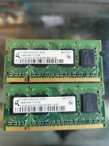 2x Infineon HYS64T64020HDL-3.7A 512MB DDR2 PC2-4200S Laptop Memory RAM 1GB Total