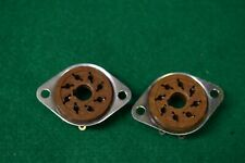 Two Octal 8 Pin NOS Vacuum Tube Sockets with Collars