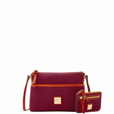 DOONEY & BOURKE BORDEAUX CLAREMONT GINGER CROSSBODY BAG COIN CASE ORG. $208 BNWT