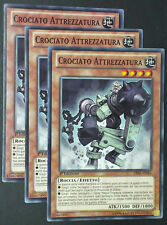 Set 3X CROCIATO ATTREZZATURA  LVAL-IT043 Comune Italiano YUGIOH