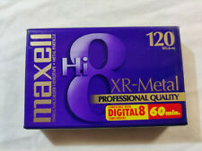 Maxell Hi 8 8mm Camcorder Videotape Xr Metal Professional Quality 120