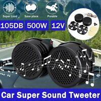 2x 12V Car Audio Music Stereo Super Sound High Tweeter Speaker 105DB Universal