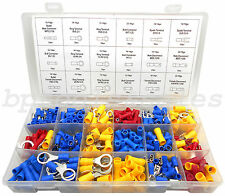 360 Pc Wire Terminal Assortment Connector Auto Wiring Spade Butt Ring Bullet NEW