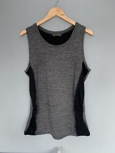 BLOOMING MARVELLOUS MATERNITY GREY MARL RUCHED SPORTS VEST GYM TOP SIZE L