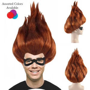 Colors Incredibles 2 Syndrome Mens Cosplay Halloween Party Full Wig Fancy Hair