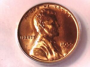 1955 S Lincoln Wheat Cent Penny ANACS MS 64 RD 4123046