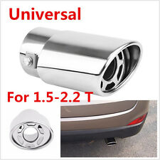 Stainless steel Car Round Exhaust Pipe Tip Tail Muffler cover styling For Fiat