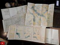 Pomerania Germany Lakes 1901 Halbfass Pommerscehn Seen w/ 5 maps