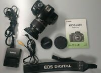 Canon EOS 450D 12.2MP Digital SLR Camera - Black with 18-55 lens and BAG w/ acce