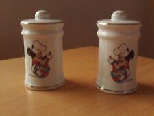 Walt Disney Company Japan Ceramic Cruet Mickey Mouse Chef Salt & Pepper Shakers