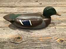 Primitive Art Wooden Duck Decoy Carved Trinket Jewelry Box One-of-a-kind