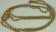 Antico Vittoriano Lungo 30 pollici 9ct Orologio D'oro Catena Guard 21.3 GRAMMI