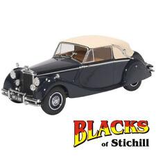 Oxford Diecast 1:43 Scale Jaguar MkV Drop Head Coupe Dark Blue & Tan Model Car
