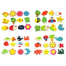 12pcs Fridge Magnet Wooden Cartoon Animals Novelty Magnets Colourful Kid's '