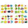 12pcs Fridge Magnet Wooden Cartoon Animals Novelty Magnets Colourful Kid's