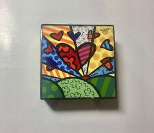 ROMERO BRITTO 'A New Day' 2010 Porcelain Trinket / Keepsake Box w/ Cover **NEW**