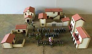 28mm Spanish/Italian PREPAINTED VERSION building kits SET A
