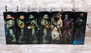 """NECA Teenage Mutant Ninja Turtles Bundle x 7 Figures 1990 Movie Official 7"""" TMNT"""