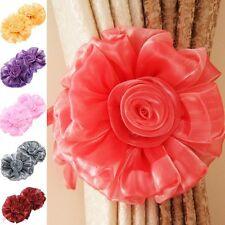 2pcs Embrasse Attache Rideaux Boucle Fenêtre Maison Chambre Decor Fleur Frangé