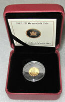 2012 CANADA GOLD COIN 1/2 DOLLAR 50 CENTS 1/25 OZ BLUENOSE PROOF RARE