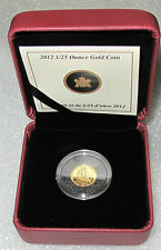 2012 CANADA GOLD COIN 1/2 DOLLAR 50 CENTS 1/25 OZ BLUENOSE PROOF RARE