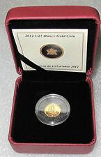 2012 CANADA 9999 GOLD COIN 1/2 DOLLAR 50 CENTS 1/25 OZ BLUENOSE PROOF RARE