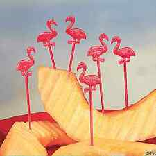 Plastic Flamingo Picks 72 Pieces Luau Party